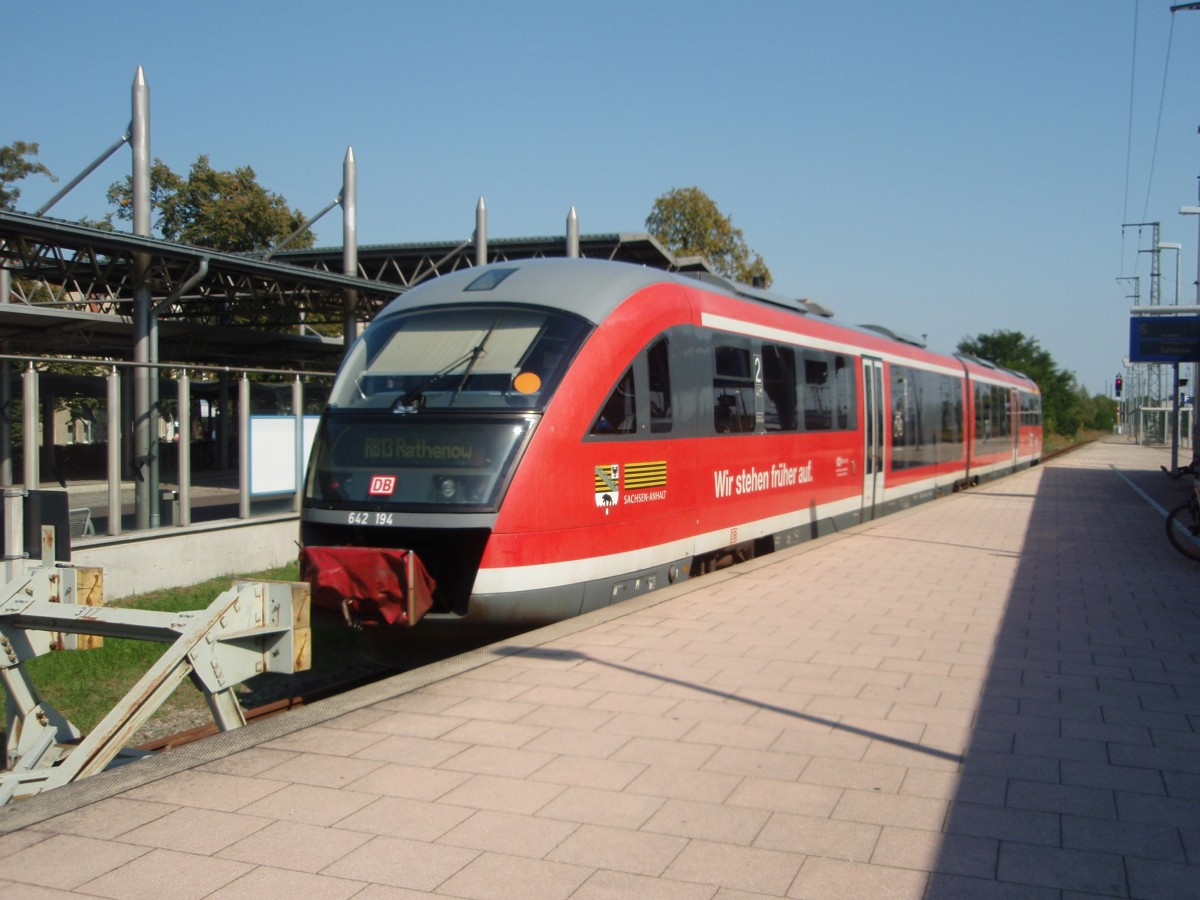 642 194 als RB 13 nach Rathenow in Stendal. 04.09.2014